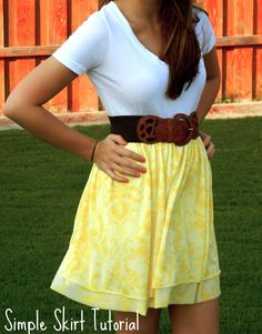 super simple skirt...looks like it would only take about 20 min!  adorable!