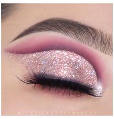 Eye Makeup Steps, Makeup Eye Looks, Beautiful Eye Makeup, Eye Makeup Art, Smokey Eye Makeup, Skin Makeup, Eyeshadow Makeup, Glitter Makeup Looks, Dramatic Eye Makeup