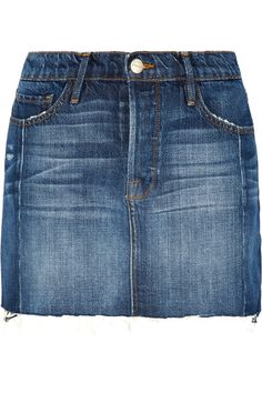 FRAME - Mini Mix Denim Skirt - Mid denim - 28