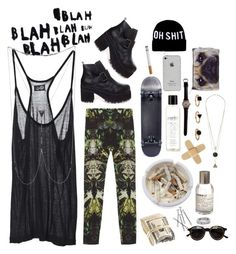 """""""oh, shit."""" by lazysummer ❤ liked on Polyvore featuring Helmut Lang, Cheap Monday, Ash, philosophy, Le Labo, Catseye London, Dimepiece, Bliss Lau, palm trees and witch"""
