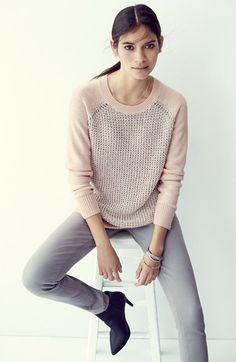Metallic Front Sweater