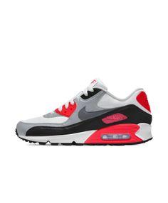 timeless design 97e28 13278 Cheap Nike Air Max 90 Essential Id Red Grey White Black Uk Online, Nike Air