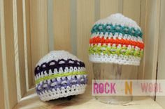 Easter Egg Inspired Beanie 03 month by RockNWool on Etsy, $10.00