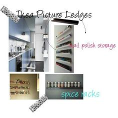 ikea picture ledges as spice rack
