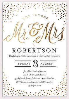 432 best wedding invitations images on pinterest invitations sparkling future signature white engagement party invitations in white or aloe stopboris Choice Image