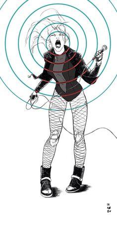 "dimaiv-nov: ""Singing bird of prey. Black Canary Comic, Arrow Black Canary, Dc Comics, Comic Art, Comic Books, Lance Black, Dragon Ball, Dc Characters, Green Arrow"
