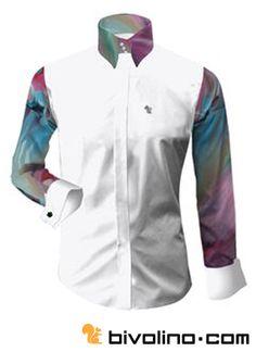 Maßgeschneiderte Bivolino Arty Hemden. Kreieren Sie Ihr eigenes Arty Hemd mit Zeichnungen und Mustern von der Kunstszene – Malereien: von farbenfroh, sensationell, Graffiti bis hin zu Pop Art. Die Maße Ihres Hemdes werden online erstellt.