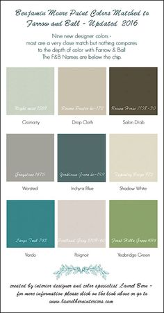 Farrow & Ball Colors