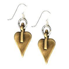 Gold heart drop Danon Earrings