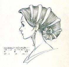 Star Wars Padme Amidala Lake Gown Headdress - Original Concept Art