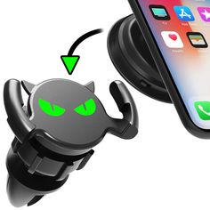 CANAMI Cell Phone Holder for Car Vent,2 in 1 Function Phone Ring Holder Finger Kickstand,Pop Up Car Air Vent Cell Phone Holder for Desk Compatible with Universal Smartphone Car Vent Holder