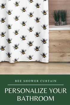 These curtains feature a hand drawn bumblebee illustration printed on high quality polyester with a detailed print that will add original touch to the throne room. Baby Curtains, Cool Shower Curtains, Panel Curtains, Throne Room, Handmade Market, Bee Gifts, Printed Curtains, Shower Screen, Bee Theme