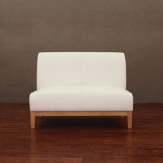 Cole Modern White Leather Loveseat | Overstock.com 228. So chic!