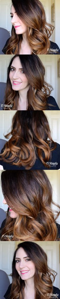 Such pretty waves and balayage hair color!