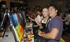 Groupon - 3-Hour Paint-and-Sip Social Painting Event at CANVAS! paint.sip.studio ($ 45 Value)     in Seattle/Fremont. Groupon deal price: $30