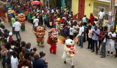Carnaval 2014 in Jacmel south of Haiti