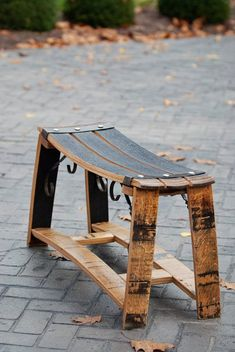 Items similar to Bourbon Barrel Stave Bench on Etsy- Items similar to Bourbon Barrel Stave Bench on Etsy Bourbon Barrel Stave Bench Bourbon Barrel Furniture, Whiskey Barrel Decor, Wine Barrel Chairs, Wine Barrel Table, Wine Barrels, Barris, Barrel Projects, Bourbon Gifts, Handmade Furniture