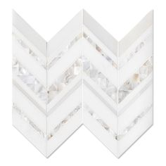 Magdalena, shown in polished Paperwhite, polished Thassos, and Shell is part of New Ravenna's Studio Line of ready to ship mosaics. New Ravenna, Base Moulding, New Kitchen Cabinets, Kitchen Backsplash, Bathroom Tile Designs, Shower Remodel, Stone Mosaic, Interior Inspiration, New Homes