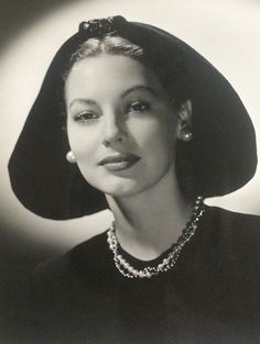 Ava Gardner, hat by Walter Florell......Uploaded By www.1stand2ndtimearound.etsy.com