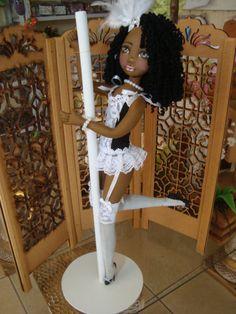Bonecas de pano negra. Pole Dance. Soraia Flores.