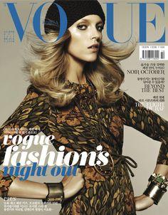 Burberry Prorsum on the October cover of Vogue Korea
