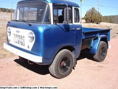1959 Jeep FC 150 4WD  This truck is in excellent condition with overhauled engine new radiator, hoses belts , transmission, transfer case, and Warn overdrive. All new brake lines Axles rebuilt with CJ5 11 inch rear brakes and Disc brakes on front, Wilwood duel master cylinder