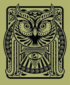 Owl and All-Seeing Eye