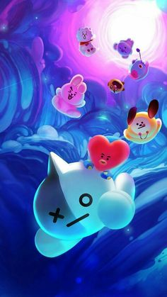 Koya is sleep falling. lol Koya is sleep falling. Bts Wallpapers, Bts Backgrounds, Army Wallpaper, Iphone Wallpaper, Wallpaper Art, Bts Taehyung, Bts Jungkook, Bts Lyric, Bts Drawings
