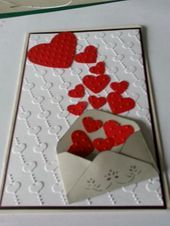 Adorable Valentines Day Cards for Him that he'll Cherish - Hike n Dip Love Valentines, Valentine Day Cards, Holiday Cards, Diy Valentine's Day Cards For Him, Easy Paper Crafts, Hanging Hearts, Some Cards, Paper Hearts, Valentine's Day Diy