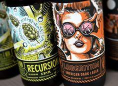 Bottle Logic craft beer packaging