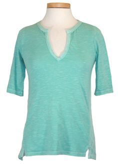 Lucky Brand Womens Shirt CALISTOGA Crochet Knit Top Cotton Green XS NEW $59.50 #LuckyBrand #KnitTop #Casual