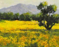 """""""Wild Sunflowers,"""" 8 x 10 inches, Oil"""
