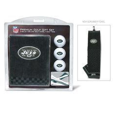 New York Jets NFL Embroidered Towel-3 Ball-12 Tee Set