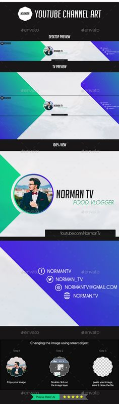 Travel Youtube Channel Art - 6 Designs Template, Youtube and - cover template