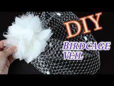 {TANYA} v.2 - How to make a Floral Birdcage Veil Headband : DIY Tutorial - YouTube