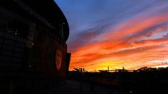 Sunset over Emirates Stadium