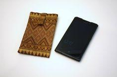 Pochette pour portable Nokia et Samsung en tissu laotien