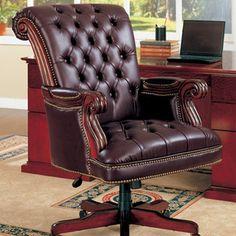 Found it at Wayfair - Wildon Home ® Siltcoos High-Back Office Chairhttp://www.wayfair.com/Wildon-Home-%C2%AE-Siltcoos-High-Back-Office-Chair-911253-CST3568.html?refid=SBP.rBAZEVQD0NNM8h0yEOl3AgAAAAAAAAAAAAAAAAAAAAA