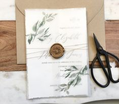 Vellum, Greenery Wedding Invitation – Love of Creating Design Co. #weddinginvitation