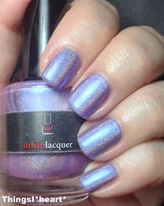 Muffin Top lavender holo nail polish. purple by urbanlacquer