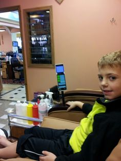 Love taking my son, Parker Jax Ward, for a pedicure!