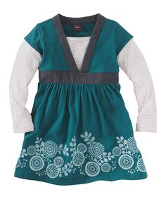 Take a look at this Tidal Pinwheel Sparkle Layered Dress - Infant, Toddler & Girls by Tea Collection on #zulily today!