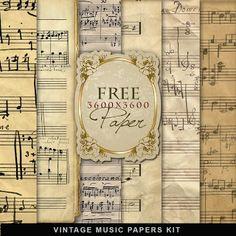 Freebies Vintage Music Papers