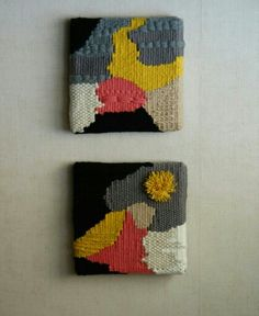 2 tapices de corneliasheep. 2 weavings by corneliasheep