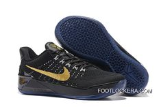 Girls Nike Kobe A.D. Flyknit Black Gold Fast Shipping