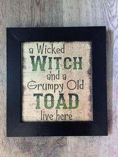Wicked Witch Sign Witch Witch Sign Halloween Sign Holiday Themes
