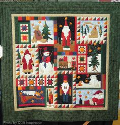 "Yuletide Joy, 61 x 63"", by Karen Michaels.  Design by Sue Garman.  2013 DVQG, photo by Quilt Inspiration"