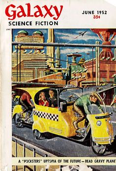 Future-Checkered Cab - Pulp Sci-Fi & Fantasy Cover Art: Ed Emshwiller-Hey!-that's a pedicab!