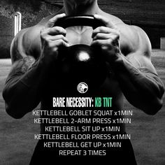 The Kettlebell TNT Workout is designed to do one thing, destroy you in 15 minutes or less. This quick workout looks simple enough, but it's tough.