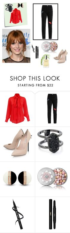"""""""Untitled #38"""" by namka88 on Polyvore featuring Post-It, Casadei, Kendra Scott, Guerlain and Yves Saint Laurent"""